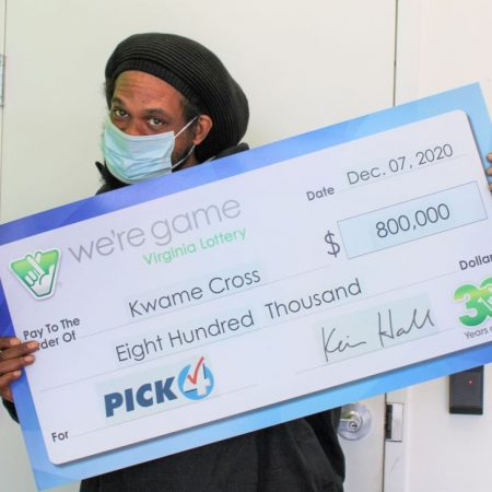Virginia man wins $800,000 with 160 identical lottery tickets
